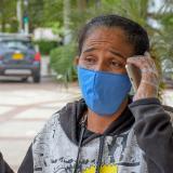 Clara Inés Díaz Ortiz, familiar de dos de los heridos en la explosión en Tasajera.