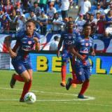 Ricardo 'el Caballo' Márquez mostró sus condiciones goleadoras en el Unión Magdalena.