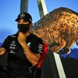 Lewis Hamilton después de su victoria.