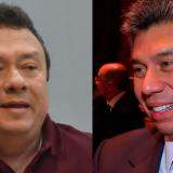 De izq a der: El senador Eduardo Pulgar y el periodista Daniel Coronell