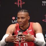 El base estrella de Rockets de Houston, Russell Westbrook.