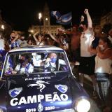Los hinchas del Porto salieron masivamente a las calles a festejar un nuevo título.