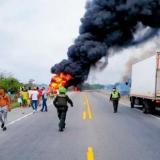 Incendio de camión cisterna en Tasajera deja ya 38 muertos