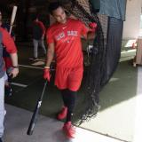 El sanandresano Jeter Downs, de 21 años, durante un entrenamiento con los Medias Rojas de  Boston.