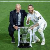 Sergio Ramos y Zinedine Zidane, dos figuras claves en el triunfo del Real Madrid.