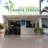 Hospital Santa Teresa De Jesús De Ávila, de Dibulla, a donde fueron trasladados los heridos.