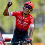 Nairo Quintana en plena acción.
