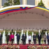 El presidente Iván Duque presidió la atípica celebración de la Independencia de Colombia.