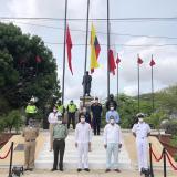 Con sencilla ceremonia se celebró el Día de la Independencia en La Guajira