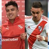 Dayro Moreno, Andrés Felipe Roa, Rafael Santos Borré y Sebastián Villa, cuatro de los colombianos que juegan en Argentina.