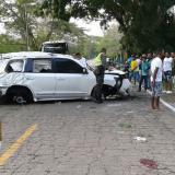 Esta era la camioneta Land Cruiser 200 en que se accidentó el cantante Martín Elías Díaz Acosta.