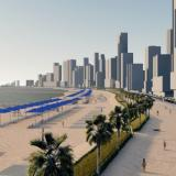 Rénder del proyecto de protección costera de Cartagena entre El Laguito y Marbella.