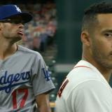 La mofa de Joe Kelly, de los Dodgers, contra Carlos Correa de los Astros.