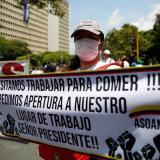 Una protesta del gremio de moteles y apartahoteles de la ciudad para exigir a las autoridades la reapertura de este sector económico que afecta a cientos de personas que han perdido sus empleos.
