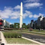 El obelisco ubicado en la ciudad de Buenos Aires.