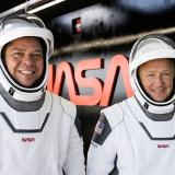 Los astronautas de la Nasa Robert Behnken y Douglas Hurley.
