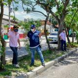 Alcalde inspecciona obras en bulevares y zonas verdes de Barranquilla