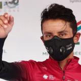 El colombiano Egan Bernal en el podio de la Ruta de Occitania.