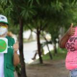 La Alcaldía y la Fundación Santo Domingo Ciudad se aliaron para desarrollar en el barrio Bicentenario,sector las Torres, una jornada pedagógica con líderes del sector para la contención del COVID-19.