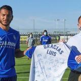 El Zaragoza le rindió un pequeño homenaje al colombiano, goleador del equipo esta temporada.