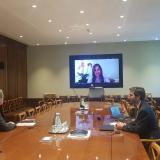 Ceremonia de ratificación del instrumento ante el director general de la OMC, Roberto Azevêdo, la viceministra de Comercio Exterior, Laura Valdivieso Jiménez y el embajador de Colombia ante la OMC, Santiago Wills.