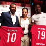 Edwin Congo fue presentado junto con Mathias Pogba, hermano de Paul Pogba, volante del Manchester United.