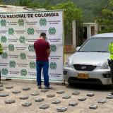 En La Guajira decomisan 33 kg de cocaína y capturan a conductor del vehículo