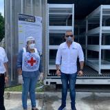 Córdoba recibió un contenedor para cadáveres en medio de la pandemia
