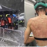 Así quedó la espalda del ciclista francés Máxime Chevalier, del equipo B&B Hotels-Vital Concept.