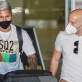 El colombiano 'Cucho' Hernández a su llegada a Madrid.