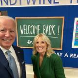 Joe Biden y su esposa Jill Biden