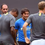 El técnico italiano Antonio Conte en un entrenamiento del Inter de Milán.