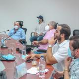 Aspecto de consejo directivo del Pacto de Golfo de Morrosquillo realizado en Coveñas, Sucre.
