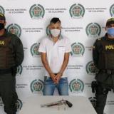 Registro de la captura de a Jhony Rodríguez Lobo.