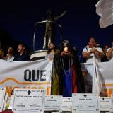 Aspecto de una manifestación en Barranquilla por los líderes sociales que han sido asesinados.