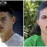 James Rodríguez, volante del Real Madrid, y Rachele Baldi, arquera de la AS Roma.