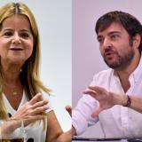 Elsa Noguera, gobernadora del Atlántico, y Jaime Pumarejo, alcalde de Barranquilla.
