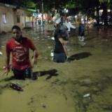 Inundaciones en Riohacha por fuertes lluvias