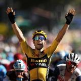 Wout Van Aert se impuso en la séptima etapa del Tour de Francia.