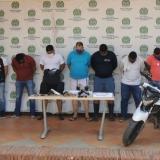 Los capturados en diferentes allanamientos en Cartagena.