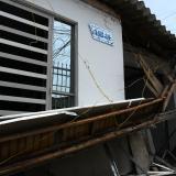 En Barrio Abajo colapsa la fachada de una vivienda