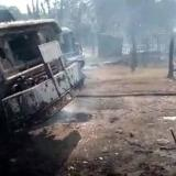 En video | Cinco quemados por explosión de dos camiones de gasolina