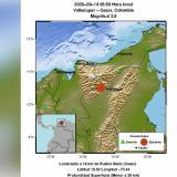 Reportan temblor de 2.5 con epicentro en Valledupar
