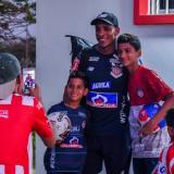 Luis Amaranto Perea despierta admiración entre los niños que lo vieron jugar en Boca, Atlético de Madrid y la Selección Colombia.