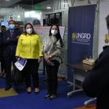 Martha Villalba y representantes del Magdalena ayer en la visita a la UNGRD.