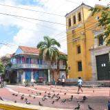 La tradicional Plaza de la Trinidad es el epicentro de los visitantes, sobre todo los fines de semana.