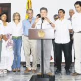 Los mandatarios y el presidente hicieron una declaración conjunta tras la cumbre en Barranquilla.