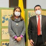La vicepresidenta Marta Lucía Ramírez y el alcalde de Montería, Carlos Ordosgoitia.