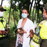 Policía de Tránsito rescata 10 perros abandonados