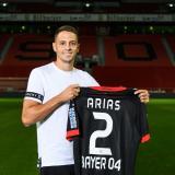 Santiago Arias vestirá la camiseta número '2' con el Bayer Leverkusen.